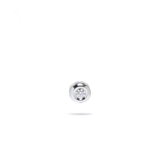 Jemný diamantový prívesok z bieho zlata