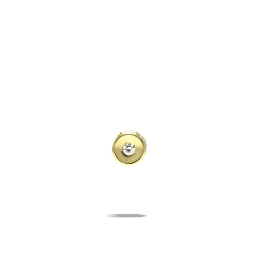 Jemný diamantový prívesok zo žltého zlata