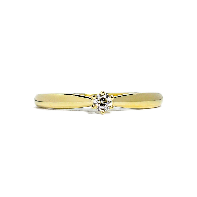 Jemný prsteň s diamantom