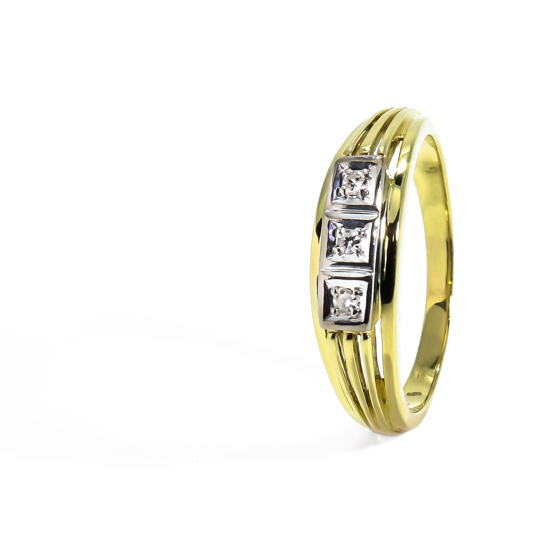430795bae Zaujímavý diamantový prsteň 0.023 ct - Radovan Blaško - Zlatníctvo ...