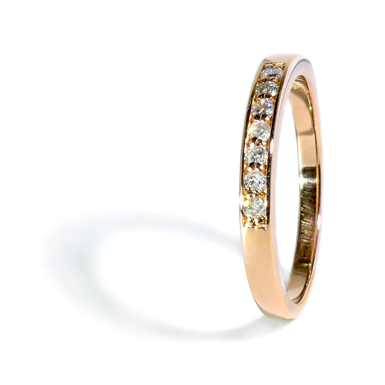 1406bae53 Jemný diamantový prsteň z ružového zlata 0,154ct - Radovan Blaško ...