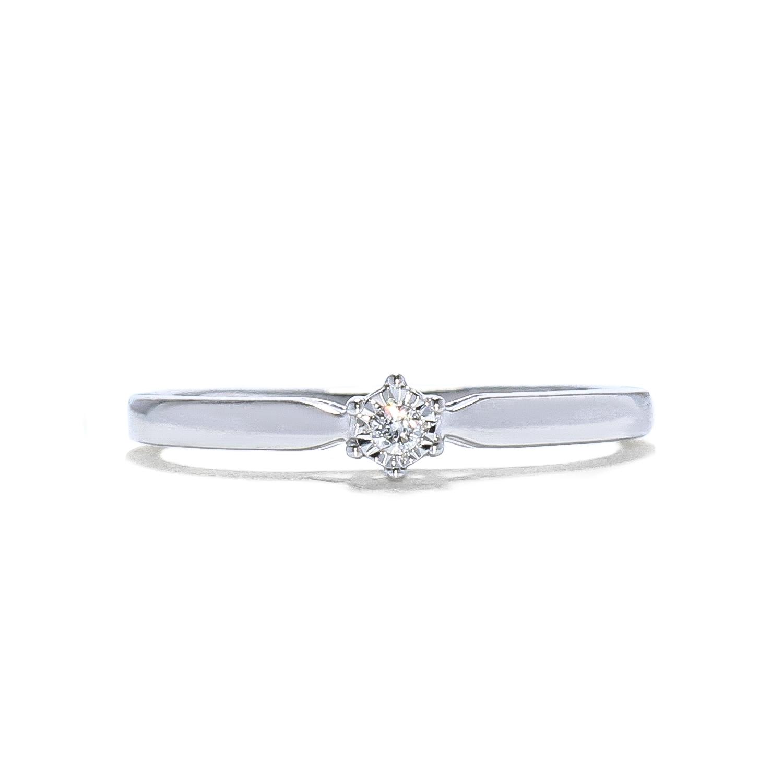 Romantický prstienok s diamantom