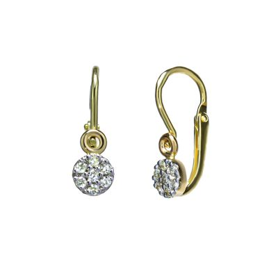 nausnice-zlte-zlato-pre-novorodencov-diamant