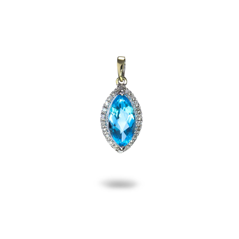Vynímočný diamantový prívesok s Topásom