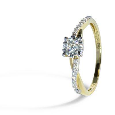 Nadčasový diamantový prstienok