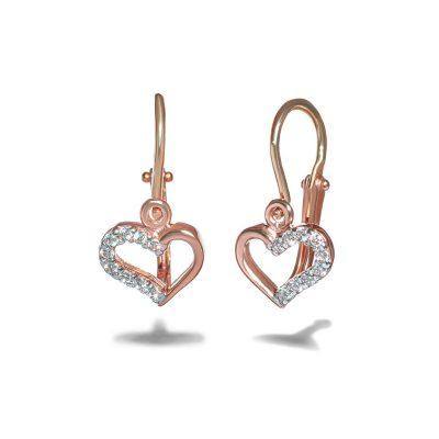Dievcenske-nausnice-diamant-ruzove-zlato