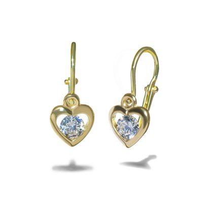 Zlate-nausnicky-srdiecka-diamant-novorodenecke