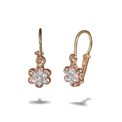 detske-nausnice-ruzove-zlato-diamant-kvet