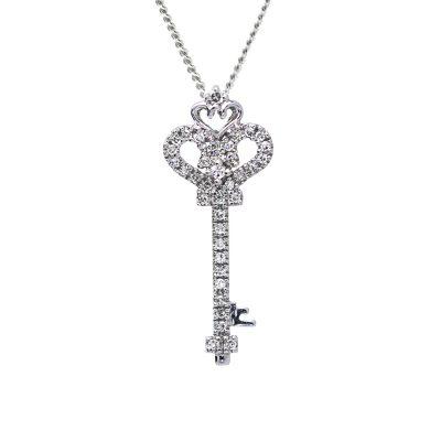 Diamantovy-privesok-biele-zlato-kluc