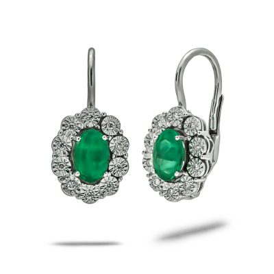 Luxusne-nausnice-diamant-smaragd-biele-zlato