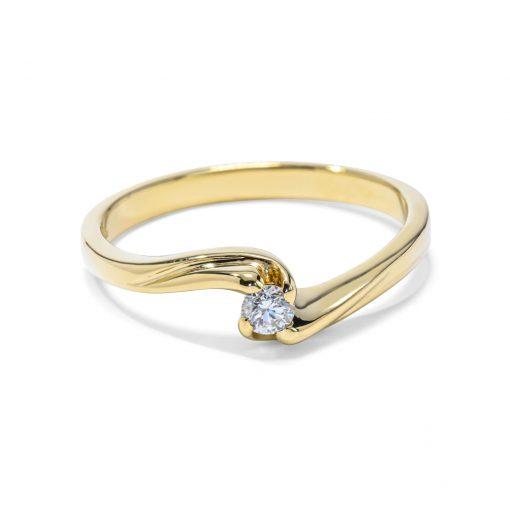 Briliantový prsteň 0,11ct