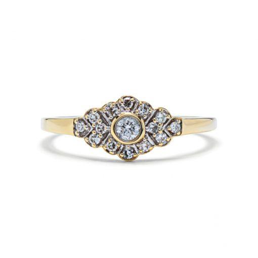 Briliantový prsteň 0,15ct