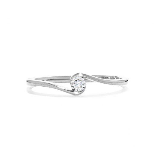 Decentný diamantový prstienok