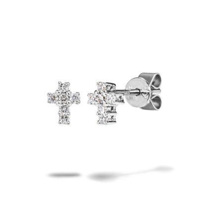 Diamantové-náušnice-z-bieleho-zlata--krížik