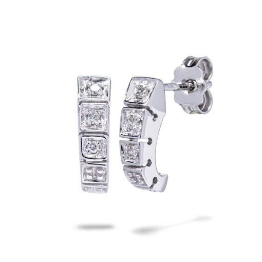 Diamantové náušnice z bieleho zlata 0,07ct