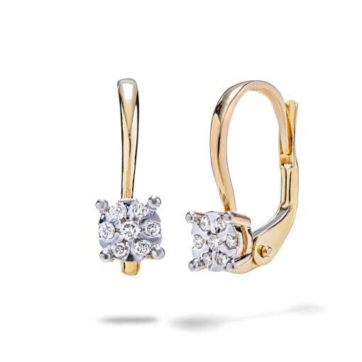 Diamantové-náušnice-zo-žltého-zlata-0,13ct