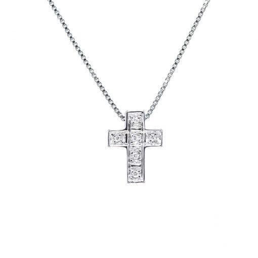 Diamantový-prívesok-krížik-z-bieleho-zlata-0,072ct
