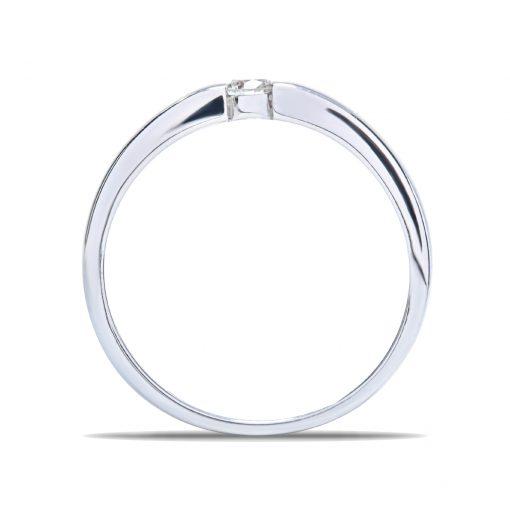 Diamantový prsteň z bieleho zlata 0,11ct