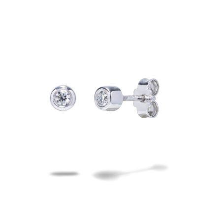 Jemné diamantové náušnice biele zlato 0,10ct