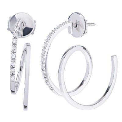 Luxusné diamantové náušnice 0,168ct